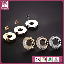 unique rock style stainless steel hollow earrings