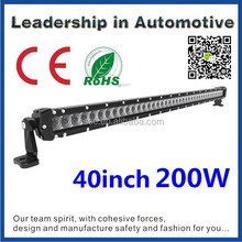 New! Tuning car lights 40inch 200w cree auto led light bar for truck pickup
