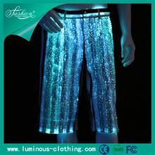 Hot light up de ropa de fibra óptica luminosa hawaiana del hombre de vestuario