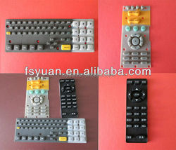 customized silicone rubber keypad / custom made silicone button rubber keypad/Natural silicone synthetic rubber products factory