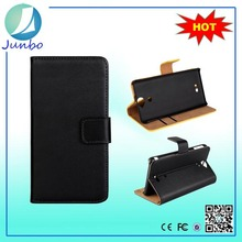 High quality leather flip cover create phone cases for sony st15i