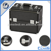 MLD-CC474 Black Lighted Customized Aluminum Cosmetic Makeup Gift Beauty Box For Carrying With High Quality