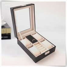 luxury wood watch display case for man