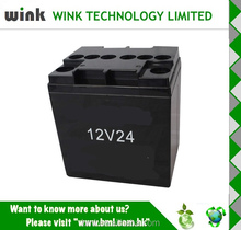 Factory Price Plastic 12v 24ah round UPS Battery Case
