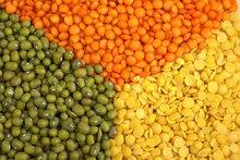 Red Lentils,Green Lentils, Sesame Seeds