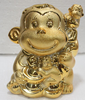 Guohao hot sale Custom resin gold painting monkeys figurine gift set
