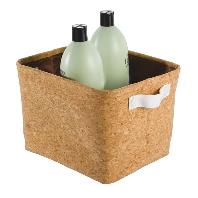 Natural Cork Fabric Storage Bin (1).jpg