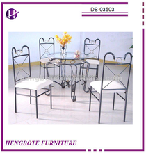 Dining room Set/dining table and chairs/metal dining table set