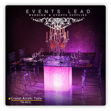 Acrylic Clear Crystal Dining Table for Events