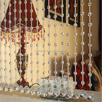 2015 new design of crystal bead curtain for room decoration