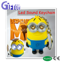 despicable me minions keychain/mini plastic cute promotion gift