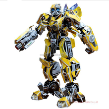 Bumblebee robot 3d paper model toy cardboard puzzle