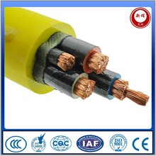 Rubber insulated and sheathed movable flexible mine cable
