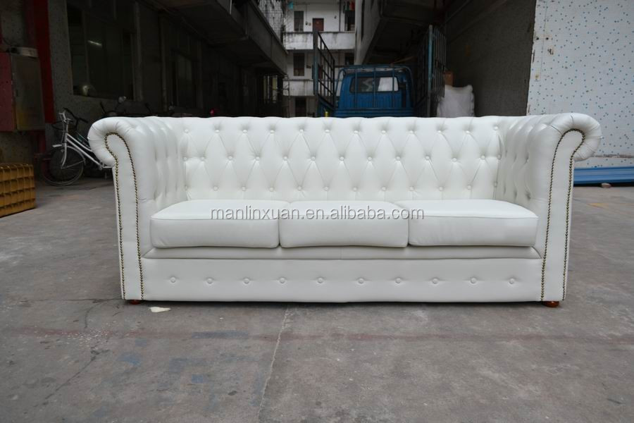 White Leather 3 Seater Chesterfield Sofa Xy0718 1 Buy 3 Seater Chesterfield,White Chesterfield
