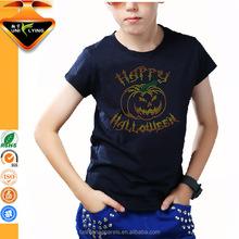 Custom Rhinestone Holloween t shirt Private labels crop top