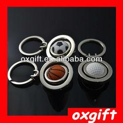 OXGIFT Custom logo Basketball Metal Key chain