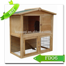 high quality wooden custom rabbit hutch top sales