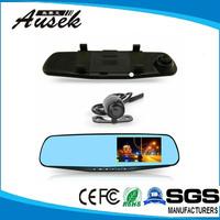 360 degree rearview car camera G-sensor 4.3inch full hd car camera