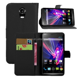 Stand Wallet Flip PU Leather Skin Cell Phone Cover Case for Wiko Wax