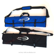 Archery bow case long bow bag with blue and black colors for archery hunting recurve bow case