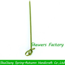 12cm Eco-friendly green knotted bamboo skewers