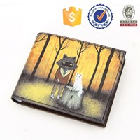 Silk screen promotional cartoon wallet with cute color printing anime wallet