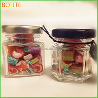 wholesale glass candy jar crystal glass jar with metal lid