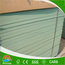 Shandong factory supply 4*8*9/12/15/18/25mm of Water proof MDF Board with Green color