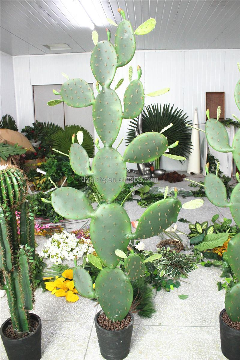 Jardin d co mini ext rieure 50 300 cm de haut vert for Mini cactus artificiel