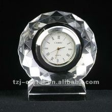 Decoration crystal clock,fashion art crystal crafts,home decorative crystal crafts
