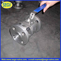 GG25, GGG40 Ductile Iron Ball Value / Carbon Steel Nut DIN2533 Flange PN16 Cast Iron Ball Valve