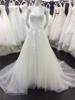 Lace Bridal Dresses Vestidos De Noiva Sweetheart Appliques Acture Image Wedding Dresses with Feather Decoration A026