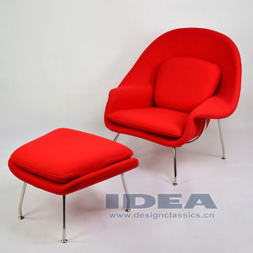 Replica eero saarinen womb chair and ottoman red wool fabric buy eero saarinen womb chair - Saarinen womb chair reproduction ...