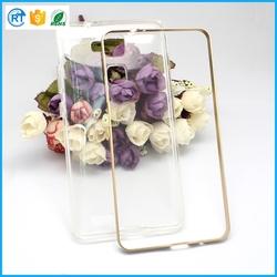 Most popular aluminum bumper + tpu back phone case for huawei mate 7 case