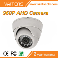 Indoor 960P 1.30MP AHD Camera with IR-CUT Filter IR Array LEDs Plastic Housing Better than HD-SDI HD-CVI TVI AHD Dome Camera