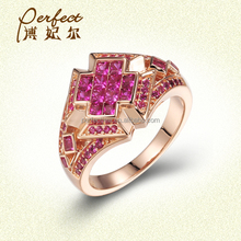 Gift Occasion and women's Gender accessory ,set jewelry for wedding ,wedding ring with special cutting Ruby color stone