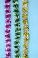 PET/PVC christmas tinsel icicles hang christmas tree garland artificial christmas glitter fruit tinsel