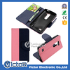 Special Contrast Color TPU+PU Combo Magnetic Hasp Leather Flip Cover Case for LG Leon C40 Smartphone