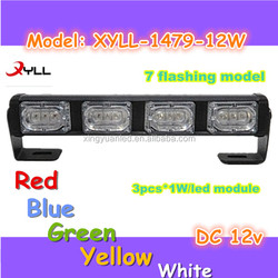 12W car head light bar, 4x4 led warning lights,truck offroad or tractor led flashing roof light bar