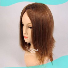 High QUallity European Human Hair Blonde Stock Jewish WIg Long Layer