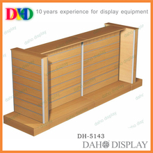 Manufacturer directly supply double sided slatwall basketball display rack