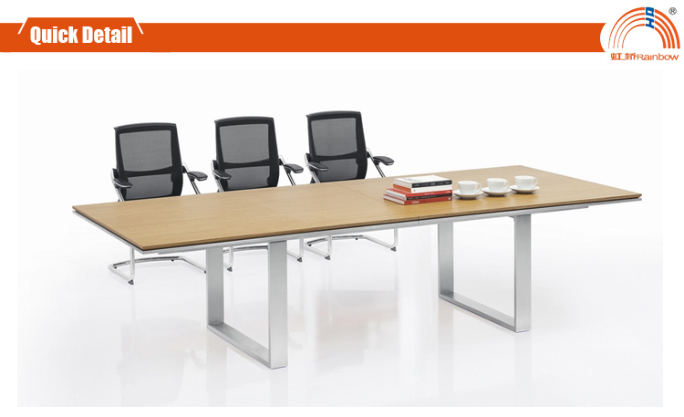 Dt 04 bois r union bureau 3 m table de conf rence table de for Taille table 8 personnes