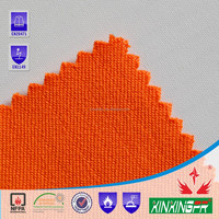 CFR1615 test report 270gsm 100% cotton interlock knitted fireproof fabric for protective clothing