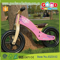 OEM and ODM Certified Factory Handmade Colorful Kids Wooden Balance Bicycle
