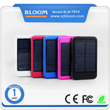 5000mah portable solar mobile phone charger , Solar charger for Iphone6 , Samsung , usb solar charger