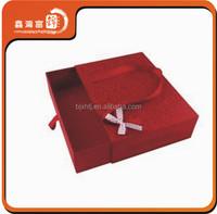 Xmas design cherry red custom cheap red paper shopping bag