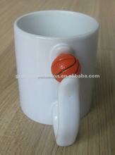 11oz coated ceramic mug with ball