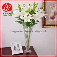 150430 High quality 2 head white artificial lily,hot sell aritificial flower