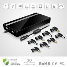 2015 Brand new design 90W Ultra Slim Universal Laptop AC Adapter With 5V 2.3A DUAL USB Output