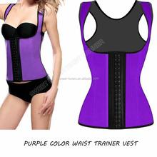 New Design High quality cheap perfect vest Latex Steel Boning corset latex sport vest